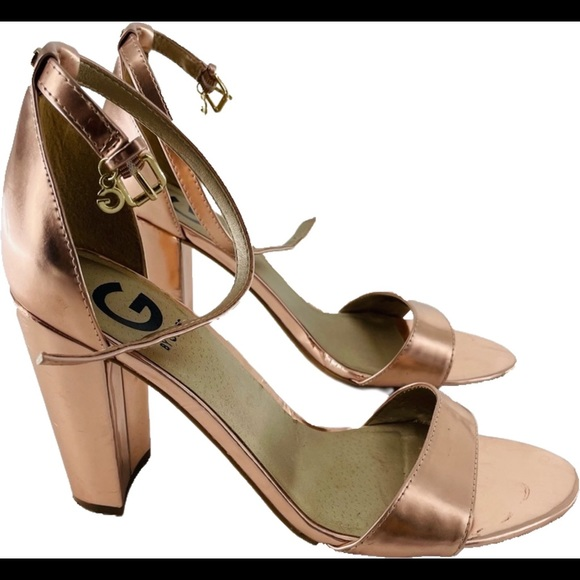Guess Rose Gold Heels Size 8B